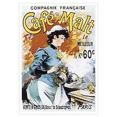 Cafe Malt Vintage Ad Poster