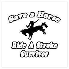 """Ride a Stroke Survivor"" Poster"