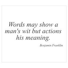 Benjamin Franklin quote 193 Poster
