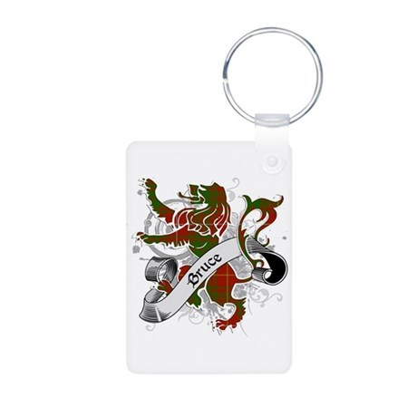 Bruce Tartan Lion Aluminum Photo Keychain