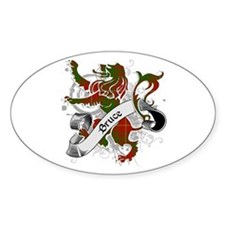 Bruce Tartan Lion Decal