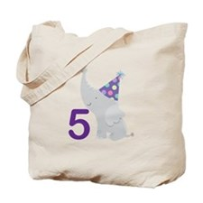 5th Birthday Zoo Animals Tote Bag