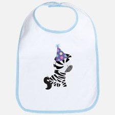 Cute Birthday Zebra Bib