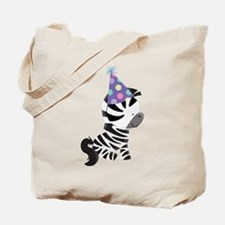 Cute Birthday Zebra Tote Bag