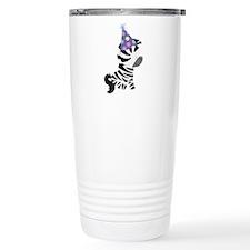 Cute Birthday Zebra Travel Mug