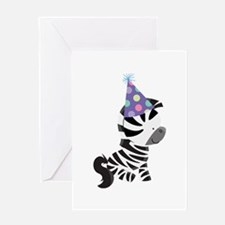 Cute Birthday Zebra Greeting Card