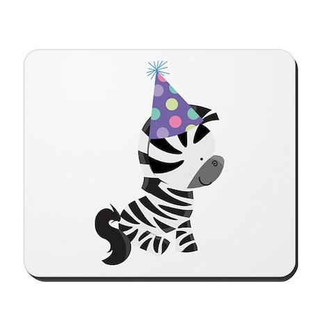 Cute Birthday Zebra Mousepad