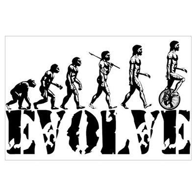 Unicycle Unicycling Unicyclist Poster
