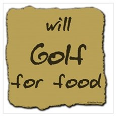 Will Golf for Food Canvas Art
