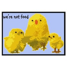 We're Not Food: Chickens Poster