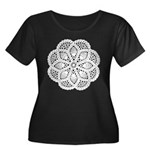 Doily Women's Plus Size Scoop Neck Dark T-Shirt
