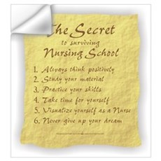The Secret to Nursing School Wall Decal