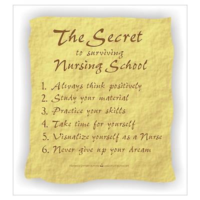 The Secret to Nursing School Poster