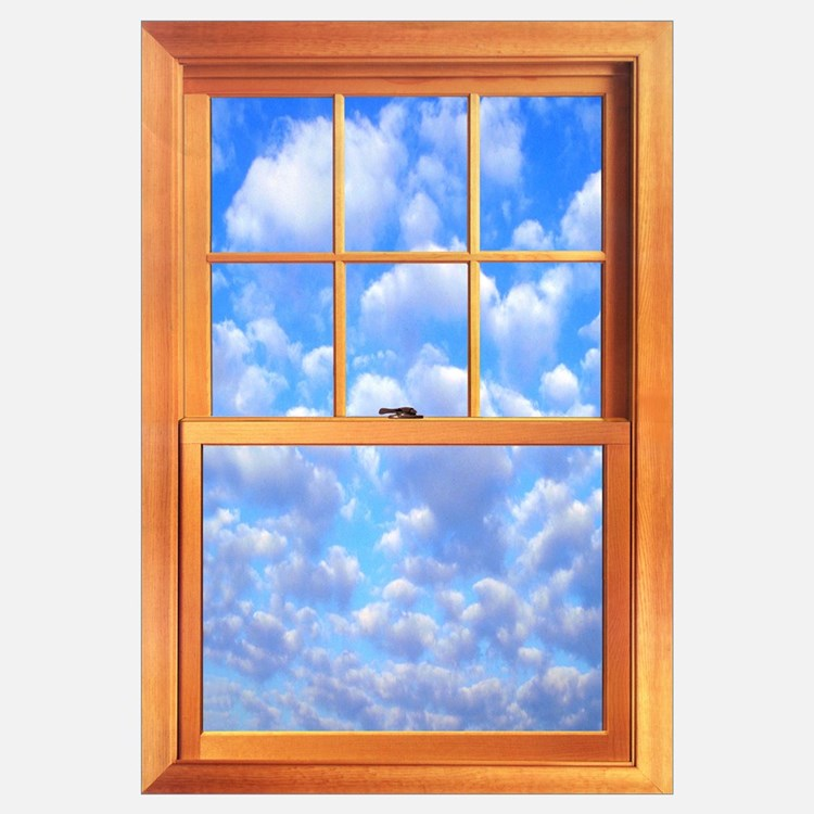 Large Trompe l'Oeil Window 23 X 35""