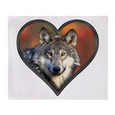 Wolf Heart Throw Blanket