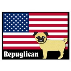 Republican pug Repuglican Poster