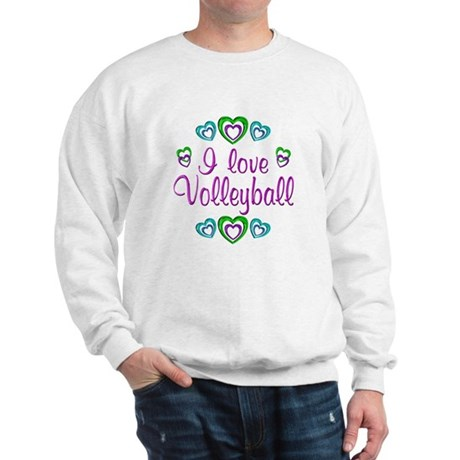 I Love Volleyball Sweatshirt