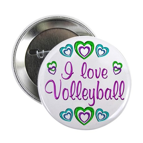 "I Love Volleyball 2.25"" Button (100 pack)"
