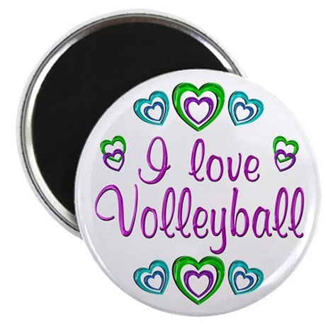 "I Love Volleyball 2.25"" Magnet (10 pack)"