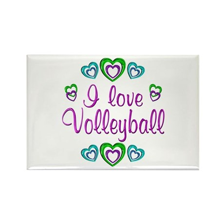 I Love Volleyball Rectangle Magnet