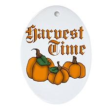 Harvest Time Ornament (Oval)