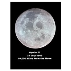 Moon from Apollo 11 space gift Poster