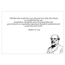 Robert E Lee Quote Canvas Art