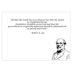 Robert E Lee Quote Poster