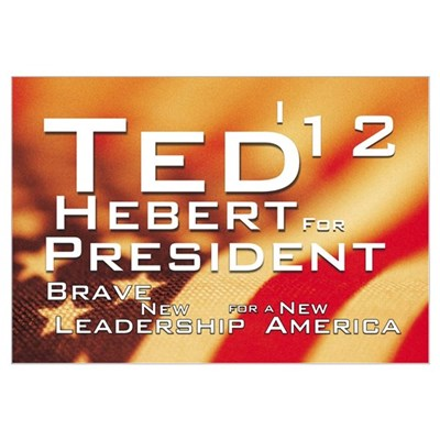 Ted For President Canvas Art