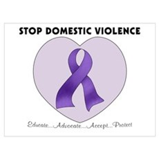 Stop Domestic Violence Canvas Art