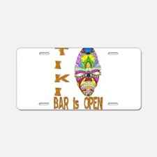 Tiki Bar is Open Mask Aluminum License Plate