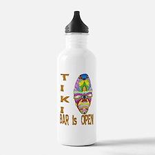 Tiki Bar is Open Mask Sports Water Bottle