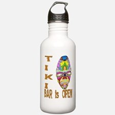 Tiki Bar is Open Mask Water Bottle