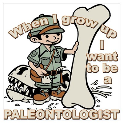 When I grow up Paleontologist Framed Print