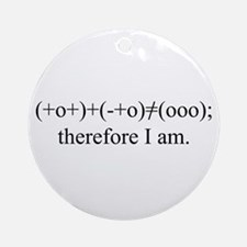PHYSICS MEETS PHILOSOPHY Ornament (Round)