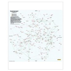 30 Light Year Star Map - Small Poster