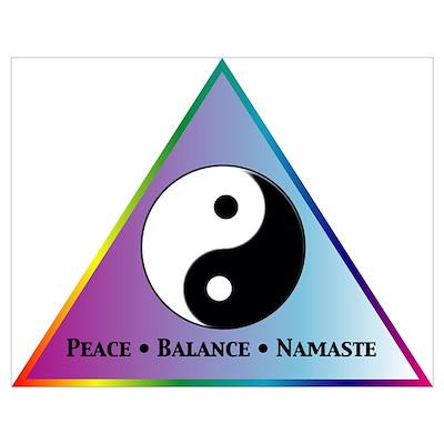 Peace, Balance, Namaste Poster