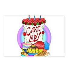 Cake Lady Baked Goods Postcards (Package of 8)