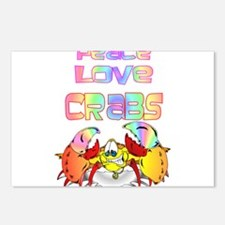 Peace Love Crabs Postcards (Package of 8)