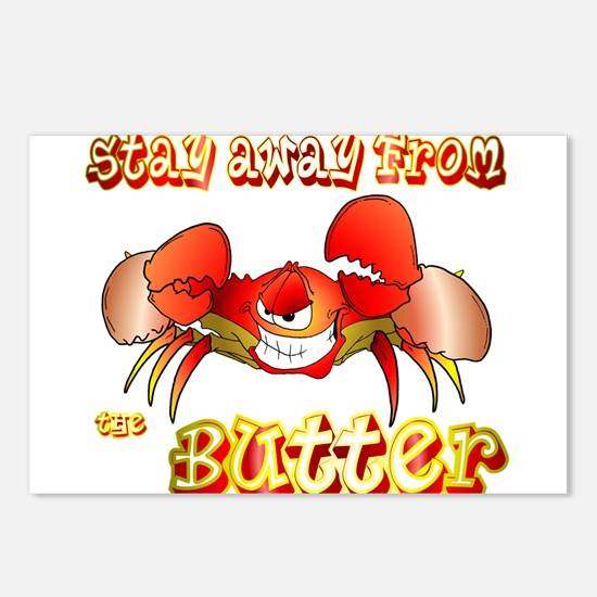 Crabs don't like BUTTER Postcards (Package of 8)