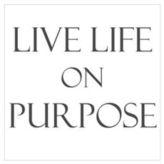 Live Life on Purpose Poster