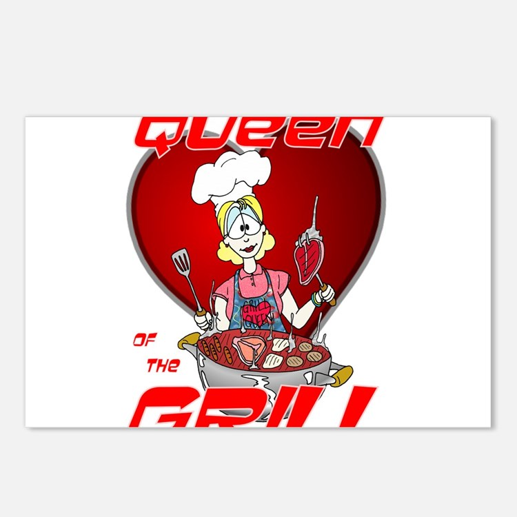 Queen of the Grill-White Postcards (Package of 8)
