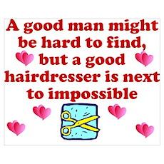 Good Hairdresser Hard To Find Poster