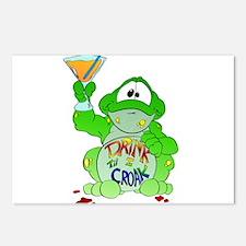Drink til I Croak Frog Postcards (Package of 8)