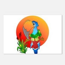 Island Parrot Postcards (Package of 8)