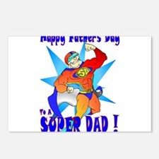 Fathers day/ Super dad Postcards (Package of 8)