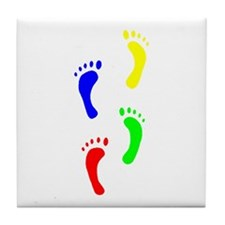 FOOTPRINTS IN THE LIGHT™ Tile Coaster