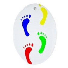 FOOTPRINTS IN THE LIGHT™ Ornament (Oval)