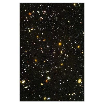 10,000 Galaxies Mini Astronomy Print Poster