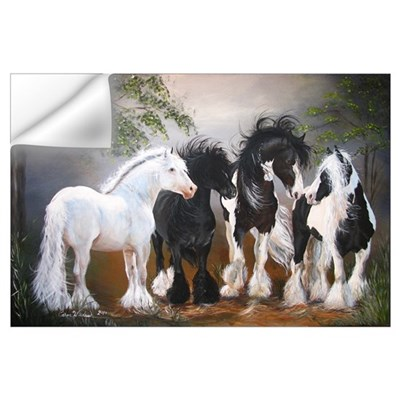 Gypsy Vanner Stallions Wall Decal